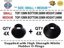 UNIVERSAL SMALL / MEDIUM TRACK ROD END BALL JOINT RUBBER DUST BOOT COVERS 8X