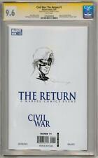 CIVIL WAR RETURN #1 CGC 9.6 SIGNATURE SERIES SIGNED CAPTAIN MARVEL SKETCH MOVIE