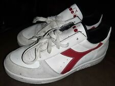 Diadora B. Elite Mens White /Red Trainers Lace Up Sport Casual Shoe SIZE 6