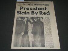1963 NOVEMBER 23 RECORD AMERICAN NEWSPAPER - PRESIDENT SLAIN BY RED - NP 2390