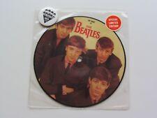 THE BEATLES LOVE ME DO 1982 UK 20TH ANNIVERSARIO PICTURE DISC Badge & Adesivo