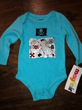 Sz 6 9 M Mayfair Blue Body Suit Pirate NWT Long Sleeve