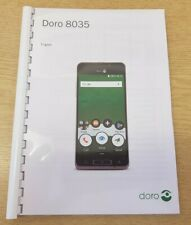 DORO PHONE 8035 PRINTED INSTRUCTION MANUAL USER GUIDE A5 HANDBOOK