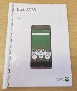 DORO PHONE 8035 PRINTED INSTRUCTION MANUAL USER GUIDE A5 HANDBOOK