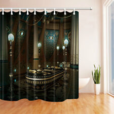 3D Ancient Egyptian Palace Bathroom Shower Curtain Fabric w/12 Hook 71*71in