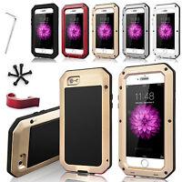 Shockproof Aluminum Gorilla Glass Metal Cover Case for iPhone 5S 5C 6 Plus 4S