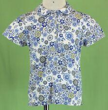 320 Papo d`Anjo (Oscar de la Renta) girl blue white  Floral Liberty Top  Size 3