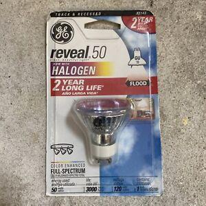 GE reveal 50w Halogen GU10 Flood Reveal Full Spectrum Bulb 120v