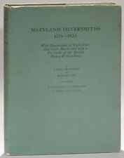 Maryland Silversmiths 1715-1830 Pleasants/Sill 1972 signed/inscribed