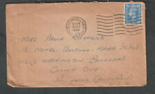 England 1950 cover & letter Jack Hill Blackpool to Mgm Metro Goldwyn Mayer