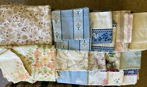 BIG Lot of 17~VINTAGE SHEETS (King+Twin)+15 PILLOW CASES~ Fabric~Linens~60/70s