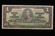 1937 Canada. ($1) One Dollar. Series O/N. Coyne-Towers.