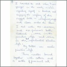 Donovan 1970s Handwritten Letter
