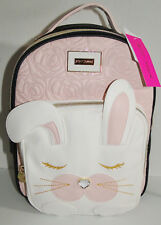 Betsey Johnson Bunny Rabbit Backpack W/Quilted Roses & Gem Nose