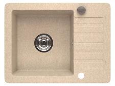 Granitspüle Spüle Küchenspüle Küchen Spülbecken + Siphon mit Ablauffläche 4 Eck