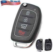 For Hyundai Santa fe Sonata Tucson Elantra Remote Key Fob Shell Case 4 Buttons