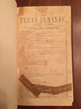 Very Rare TEXAS Almanac for 1860, History, Ads, GALVESTON, Negroes, Sam HOUSTON