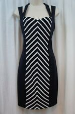 Guess Los Angeles Dress Sz 8 Navy Ivory AMBER Stretch Bodycon Evening Cocktail