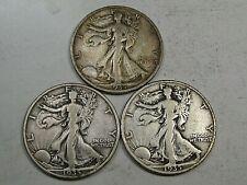 All 3 Mints 1935 Walking LIBERTY Half Dollars F/VF P-D-S.  #27