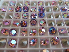 12 Light Rose AB Foiled Swarovski Crystal Chaton Stone 1088 29ss 6mm