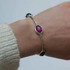 New IPPOLITA Wonderland 925 Silver Grape Purple 5 Station Bracelet NWT