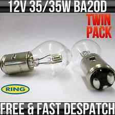12V 35/35W BA20D HEADLIGHT / HEADLAMP BOSCH STYLE FITTING BULB R395 TWIN PACK