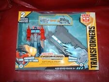 transformers optimus price cyberverse includes trailer