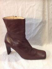 Faith Brown Ankle Leather Boots Size 6