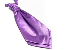 Lilac Wedding Satin Cravat by Frederick Thomas FT809 Pre Tied