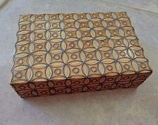 Wood Trinket Box Ornate Made in Poland