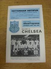 18/03/1967 Tottenham Hotspur v Chelsea  (Pencil Changes Inside). Item in very go