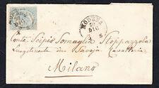STORIA POSTALE Regno 1864 Lettera 15c da Modena per Milano (FB5).