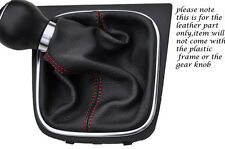 RED STITCHING FITS VW EOS CONVERTIBLE 2006-2013 LEATHER GEAR GAITER ONLY