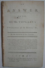 1788 WESLEYAN TRACT JOHN FLETCHER ANSWER TO TOPLADY'S VINDICATION OF THE DECREES