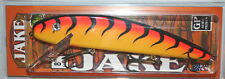 "8"" Jake Musky Mania Muskie Pike Crankbait Orange Tiger J8-24 Drifter Tackle"