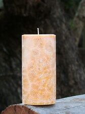 200hr ORANGE, VANILLA & CARDAMOM Scented Natural PILLAR CANDLE Sustainable Wax