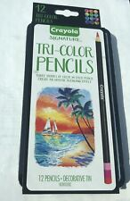 CRAYOLA SIGNATURE 12 Tri-Color Pencils Drawing Supplies Art Supplies