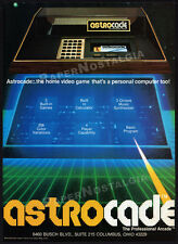 ASTROCADE__Original 1982 print AD / advertisement / vintage game system promo