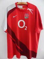 2007 WORLD CUP Nike England Rugby Union Original Shirt Top Jersey Mens XXL Away