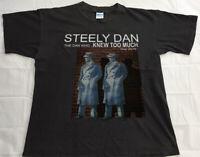Steely Dan Becker Fagen The Dan Who Knew Too Much 2016 Tour T Shirt Sz S - 2XL