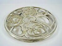 Godinger Silver Plated Hearts Design Trivet Hot Pot Under Plate Table Protect