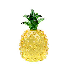 Yellow Crystal Pineapple Paperweight Figurine Glass Ornament Office Table Decor