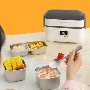 Lunch Box Warmer Food Container Stainless Steel Thermal Insulated Electric Heat