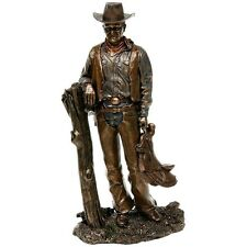 Large  Bronze Resin John Wayne Cowboy Screen Legend  Ornament Standing 70119