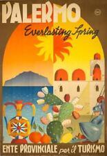 Palermo by Croce 1949 VINTAGE ORIGINAL Italian POSTER EVER LASTING SPRING