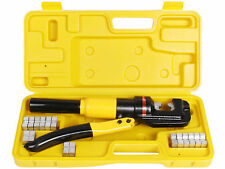 10-Ton Hydraulic Wire Battery Cable Lug Terminal Crimpers Crimping Tools 9 Dies