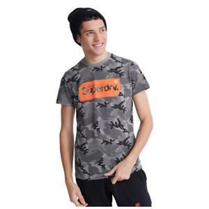 Superdry NEW Men's Core Logo Tag Camo All Over Print T-Shirt BNWT