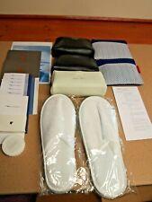 British Airways Club World Premium Economy Amenity Kits Menus Hotel Slippers