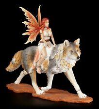Elfen Figur - Admina mit Timba Wolf - Companion Fairies Sammelfigur Fantasy
