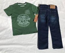 True Religion Logo World Tee & Jeans 2 Piece Set Style #TU737ST86 NWT *Size 4T